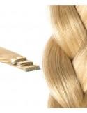 Extension Adhésive cheveux russes Blond Platine
