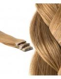 Extension cheveux russes ondulés brun clair