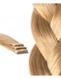 Extension adhésive lisse 50 cm blond foncé