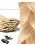 Extension à Clip Cheveux Russe Blond Clair