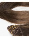 Extension à Clip en cheveux russe noisette