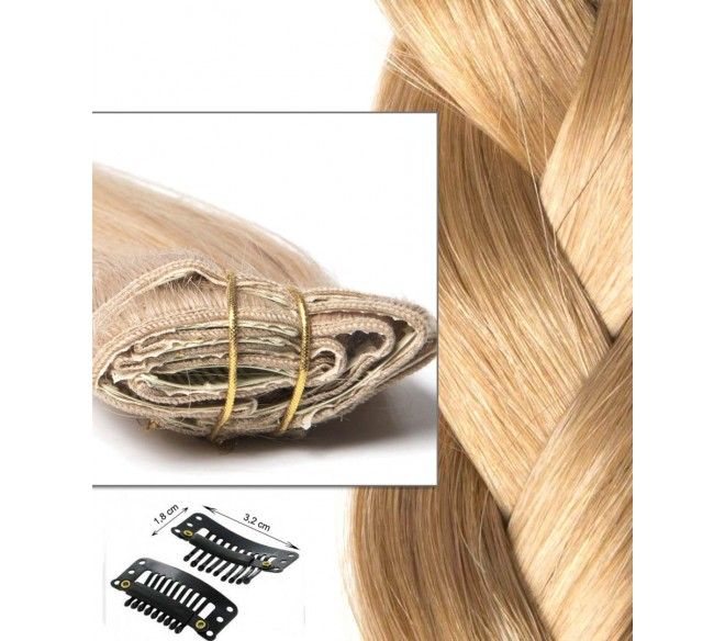 Clip In Extension Rusische Haar Blond Caramel
