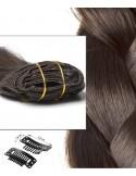 Haarverlängerung Clips in extension Hell Braun