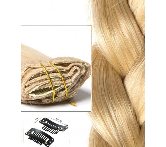 Clip In Extension Russian Hair Light Blond