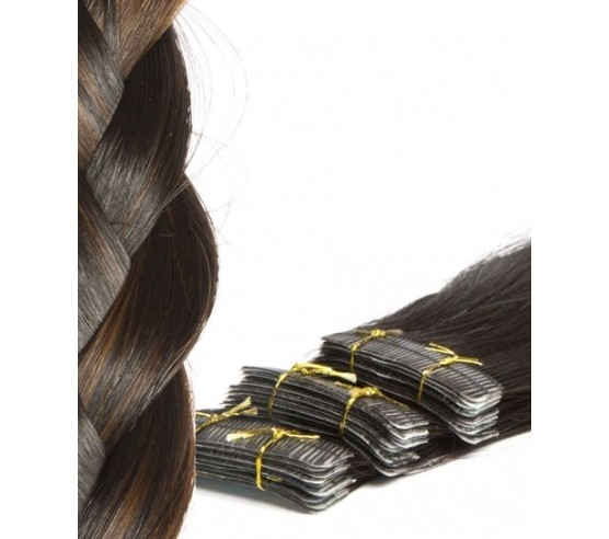 20 Tape Hair Extensions Highlighted Remy Hair Real Russian Hair