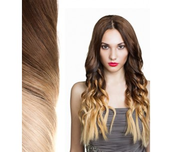 25 Strands of Tie & Dye Pre-Bonded Extensions - Ombré Hair