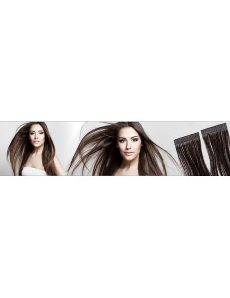 Extensions adhésives en cheveux russes